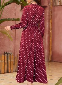 Sukienka Cikelly w stylu boho z okrągłym dekoltem
