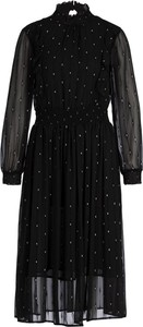 Czarna sukienka Silvian Heach rozkloszowana