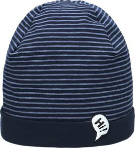 Niebieska czapka Maximo w paseczki