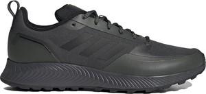 Czarne buty sportowe Adidas falcon sznurowane