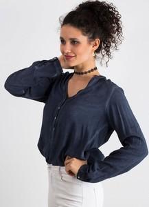 Bluzka Sheandher.pl z długim rękawem z okrągłym dekoltem w stylu casual