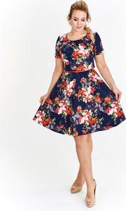 Sukienka Milano Moda w stylu casual z krótkim rękawem z tkaniny
