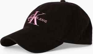 Czarna czapka Calvin Klein z jeansu
