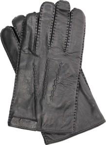 Czarne rękawiczki Trussardi Jeans