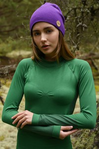 Zielona bluzka Nessi Sportswear z dzianiny z długim rękawem