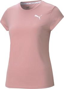 Różowa bluzka Puma z krótkim rękawem w sportowym stylu
