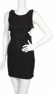 Czarna sukienka 1992 mini z okrągłym dekoltem