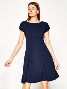 Sukienka DKNY z okrągłym dekoltem rozkloszowana mini