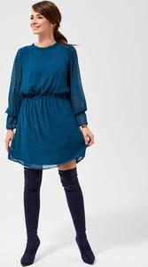 Sukienka Moodo w stylu casual mini z okrągłym dekoltem