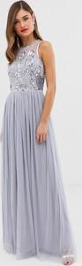 Fioletowa sukienka Frock And Frill bez rękawów