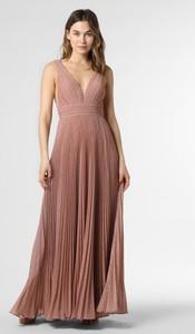 Różowa sukienka Luxuar Fashion na ramiączkach maxi