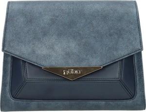Niebieska torebka NOBO na ramię w stylu casual