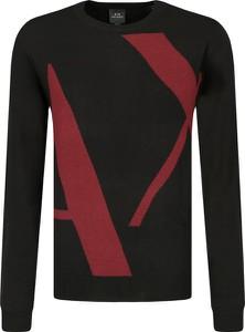 Czarny sweter Armani Exchange z wełny