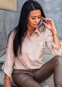 Koszula Fason w stylu casual z długim rękawem