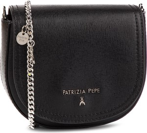 Czarna torebka Patrizia Pepe średnia na ramię