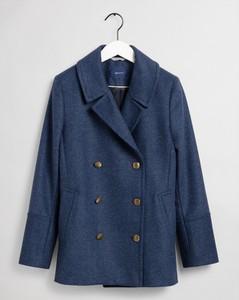 Niebieski płaszcz Gant