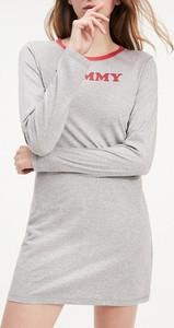 Sukienka Tommy Hilfiger sportowa z długim rękawem mini
