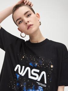 T-shirt Cropp z okrągłym dekoltem z krótkim rękawem