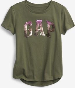 Bluzka Gap z okrągłym dekoltem z krótkim rękawem w młodzieżowym stylu