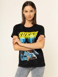T-shirt Guess z okrągłym dekoltem w młodzieżowym stylu z nadrukiem
