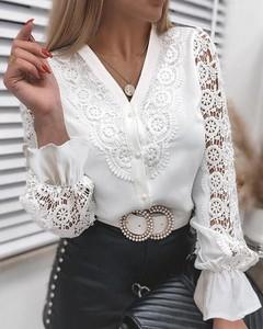 Bluzka Kendallme z dekoltem w kształcie litery v z długim rękawem
