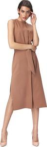 Brązowa sukienka Nife bez rękawów