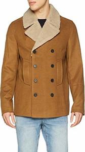 Brązowy płaszcz męski New Look