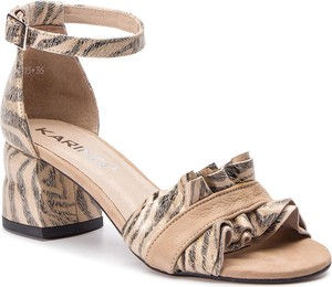 Sandały Karino w stylu casual ze skóry na obcasie