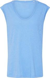 Niebieska bluzka Marc O'Polo w stylu casual bez rękawów