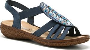 Niebieskie sandały Rieker