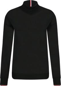 Czarny sweter Tommy Hilfiger z wełny w stylu casual