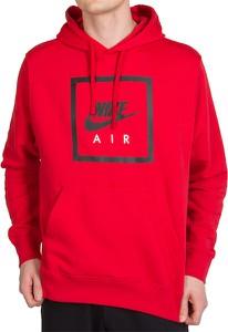 Czerwona bluza Nike z bawełny w sportowym stylu