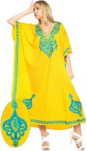 Sukienka La Leela maxi z długim rękawem