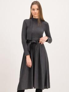 Sukienka Max & Co. rozkloszowana z długim rękawem