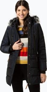 Granatowa kurtka Soquesto w stylu casual długa