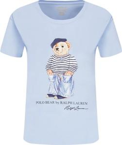 T-shirt POLO RALPH LAUREN z krótkim rękawem z okrągłym dekoltem