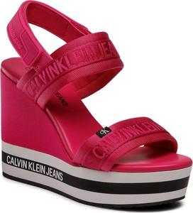 Czerwone sandały Calvin Klein