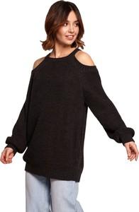 Czarny sweter Be Knit w stylu casual