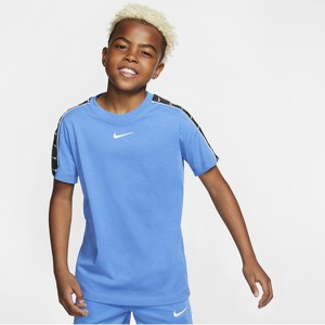 Niebieska koszulka dziecięca Nike z krótkim rękawem