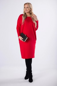 Sukienka Ptakmoda.com z długim rękawem z dresówki oversize