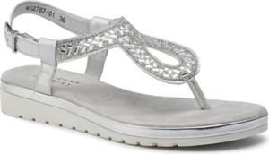 Srebrne sandały Jenny Fairy w stylu casual