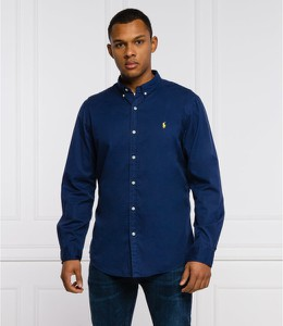 Niebieska koszula POLO RALPH LAUREN z długim rękawem w stylu casual z kołnierzykiem button down