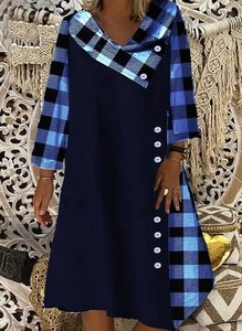 Sukienka Sandbella z długim rękawem midi