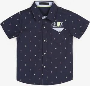 Granatowa koszula dziecięca born2be z bawełny dla chłopców