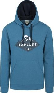 Niebieska bluza Mountain Warehouse w młodzieżowym stylu z tkaniny