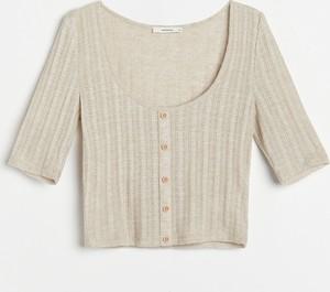 Bluzka Reserved w stylu casual z dzianiny