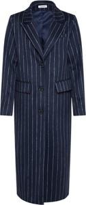 Niebieski płaszcz EDITED z wełny