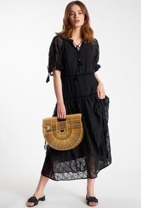 Sukienka Monnari midi z długim rękawem z dekoltem w kształcie litery v