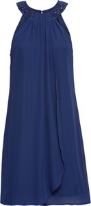 Niebieska sukienka bonprix BODYFLIRT boutique z tkaniny kopertowa
