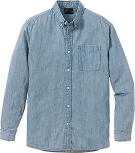 Niebieska koszula bonprix bpc selection z klasycznym kołnierzykiem z długim rękawem w stylu casual